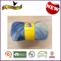 Mixed color good quality Silk Cotton polyester blend hand knitting yarn manufacturer