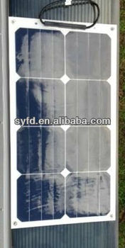 20% High efficency Flexible solar panel 25W 12V made by USA back contact cells