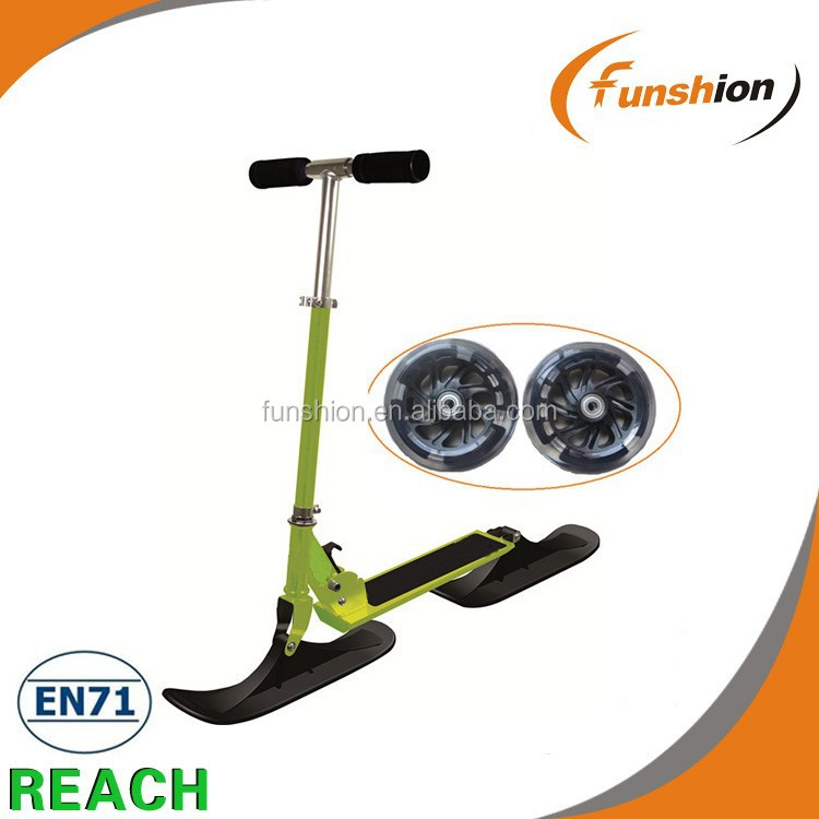 Cheap aluminum kick snow scooter for kids(FS-SN001)FUNSHION SNOWSCOOTER