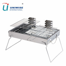 Hot Sale Stainless Steel Charcoal Double Hibachi BBQ Grills for Picnic , Camping, Outdoor