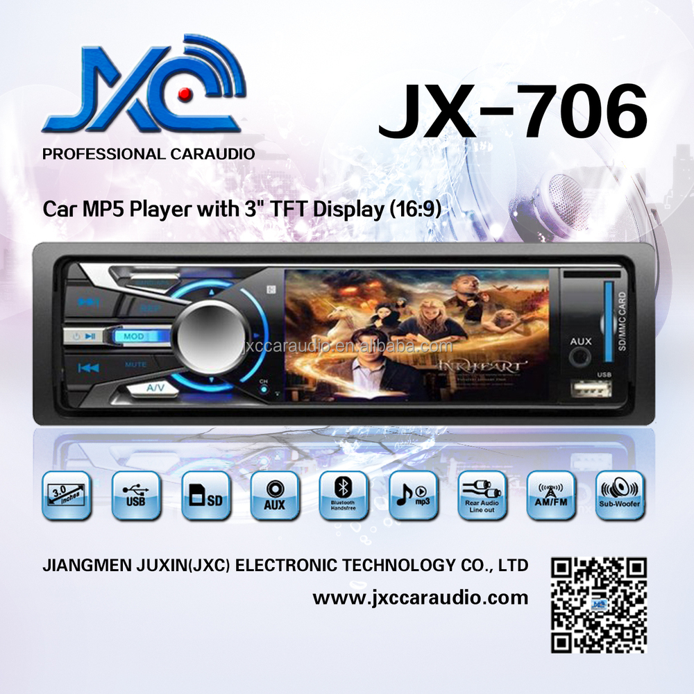 Car MP5 USB SD DVD CD Player with multi-functions JXC-706