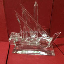 Islamic Ramadan Gift Crystal Arab Dhow With Logo and Text Engraved Free