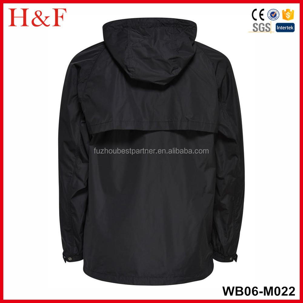 Wholesale mens adjustable drawstring windbreaker jackets with hooded
