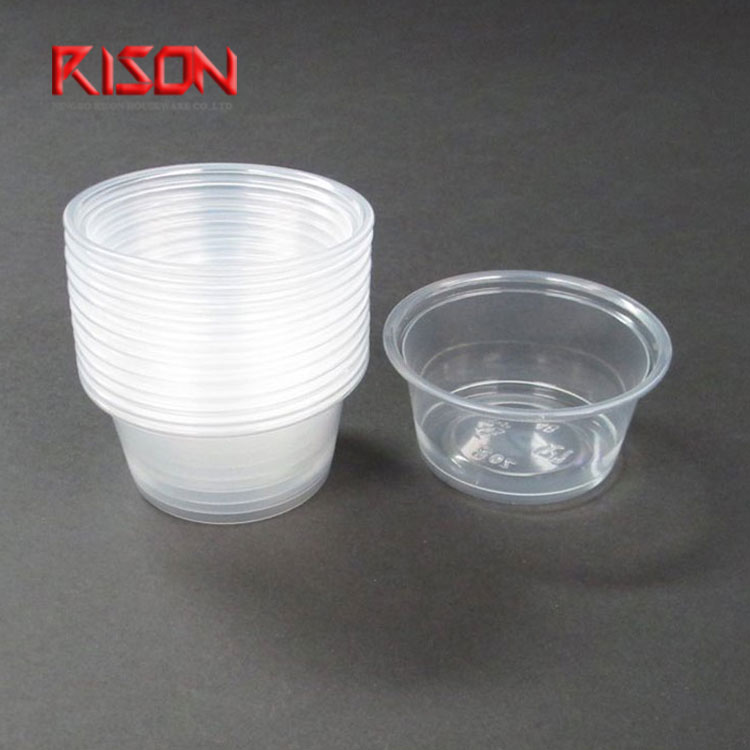 Best Price Clear Food Grade PS Plastic Portion Sauce Cup With lids