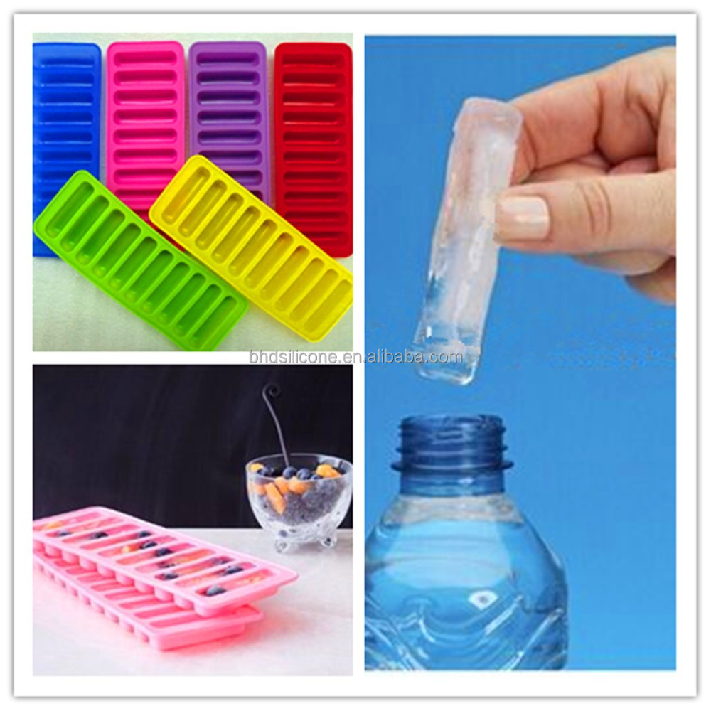Push Out Water Bottle Sticks Silicone Ice Cube Tray,BPA Free Ice Pop Maker