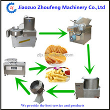 High quality french fries making machine small scale automatic potato chips production line
