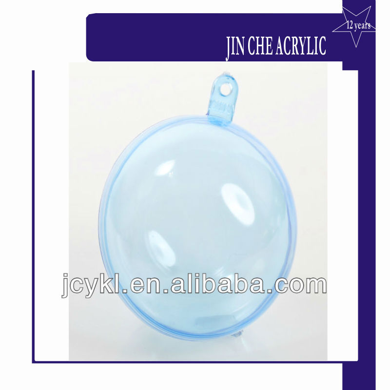 Light Blue acrylic plastic hollow sphere/hemisphere /halfsphere
