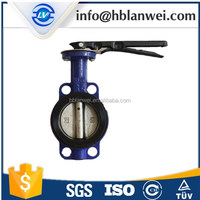 D71X-16 lever operated rubber lined butterfly valve
