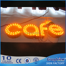 Led marquee stainless steel bulb letter sign