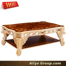 AMF9122-Hand carved teak wood furniture set coffee table wooden