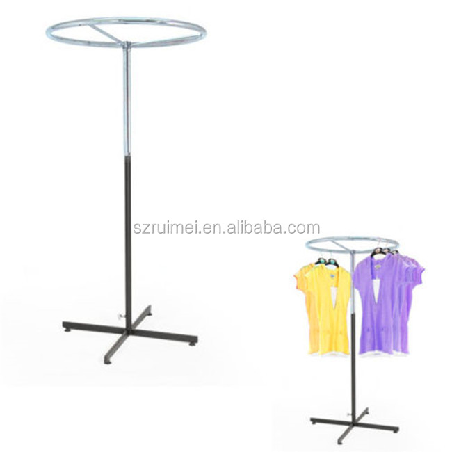 Rotating Round Shape Free-Stand Hanging Clothes Display Racks