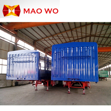 factory export 40 ton cargo box trucks trailers for hot sale