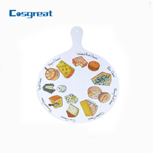 Round melamine cutting board for bread