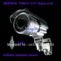 "1/3"" Sony Effio CCD 700TVL 2.8~12mm manual zoom lens with OSD menu control IR infrared CCD senor security camera"