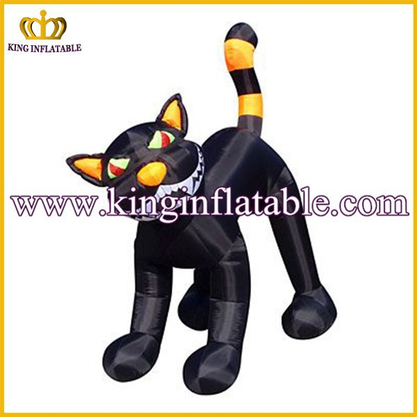 Hot Sale 3mH Giant Inflatable Black Cat For Halloween Festival