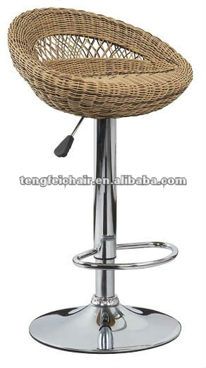 rattan bar chair with difference color