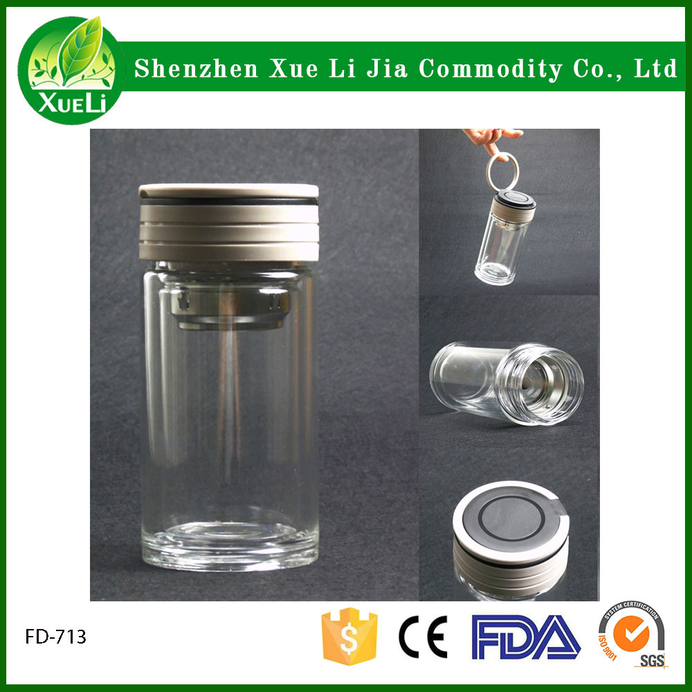 New Arrival Items 250ml glass water bottle glass cups with tea infuser water kettle and plastic handle