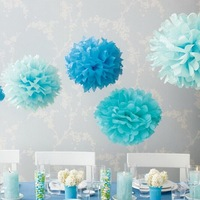 Wedding Decoration Crafts Party Home Supplies Car Decorative Tissue Paper Pom poms pompom
