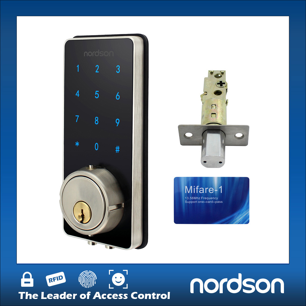 Fashion Sliver Smart Card RFID Digital Keypad Door Lock for Home Office