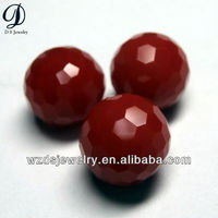 Hot sale red glass spherical beads