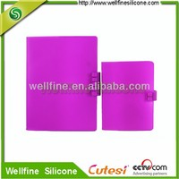 Abrasion silicone blocks notebook in plain design of A5 A6 size