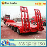 2014 NEW 3 axles lowbed trailer truck with FUWA axles for sale