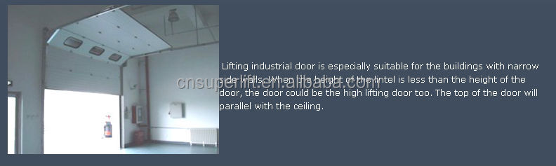industrial high lifting automatic durable industrial door with hardware