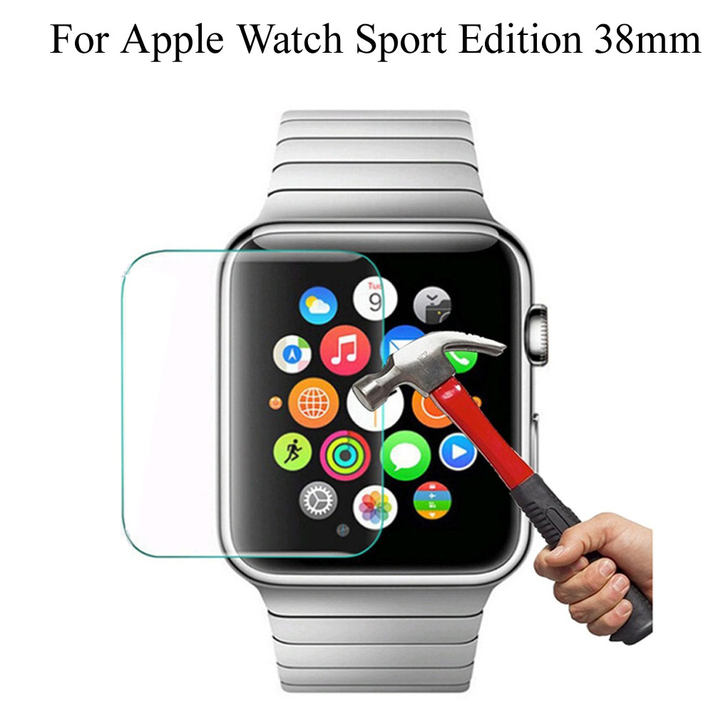 Ultra-thin 0.26mm HD Premium Tempered Glass Screen Protector For Apple Watch Sport Edition 38mm