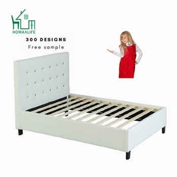 Free Sample Leather Beds King Size Furniture Luxury Bed