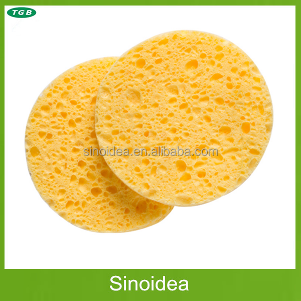 Natural Cosmetic cellulose sponge,OEM facial cellulose cleaning foam