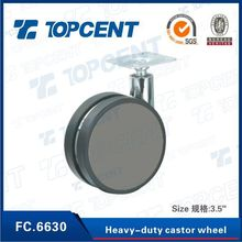 Plastic+ Zinc alloy+Iron furniture swivel top plate casters wheel