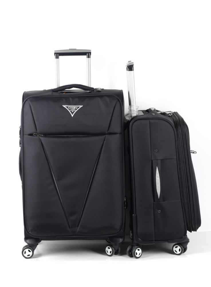 2015 soft trolley luggage bag four wheels travel time luggage
