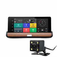 7 inch HD Dual Camera Car DVR Smart Parking System GPS Navigation with Offline Map