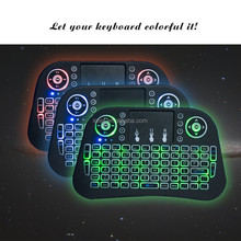 HOT !! FACTORY 2.4G Mini Rii i8 backlit Wireless Keyboard Remote Controls Air Mouse with bluetooth backlit mini keyboard