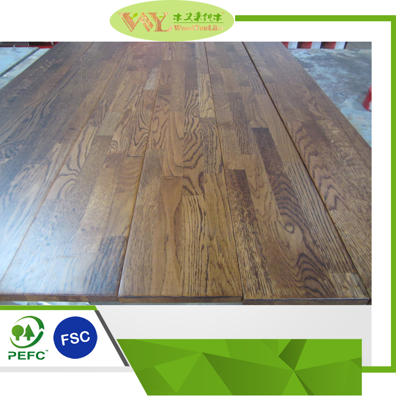 Brushed Lacquered European <strong>Oak</strong> Wood Flooring Solid Wood Flooring