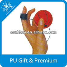 Cheap soft squeeze pu stress ball YOYO basketball kids toys promotional gifts