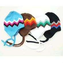 2013 fashion knitted acrylic earflap hat