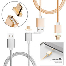 Pink/gold/silver smart phone flexible connect magnetic usb cable wholesale