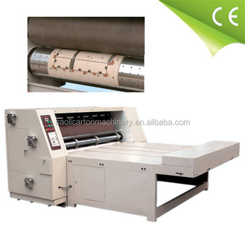 china corrugated cardboard semi-auto rotary die cutting machine