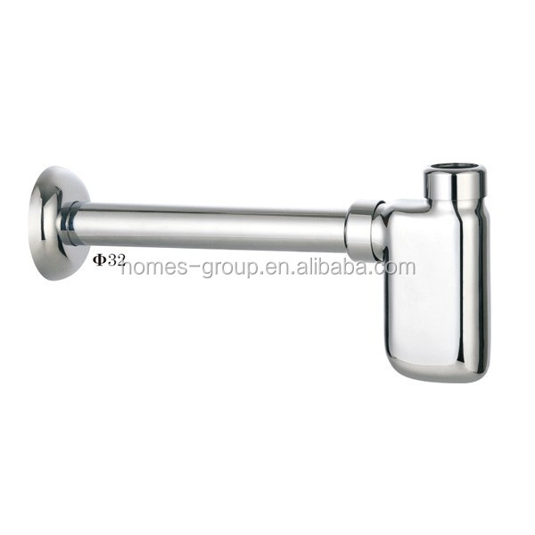 Brass Basin Bottle Trap CP SS304 tube for bathroom fittings