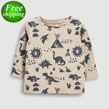 2019 NEW Dinosaur Zoo Girls Long Sleeve Blouse Kids Shirts For Girls White Long Sleeve Top
