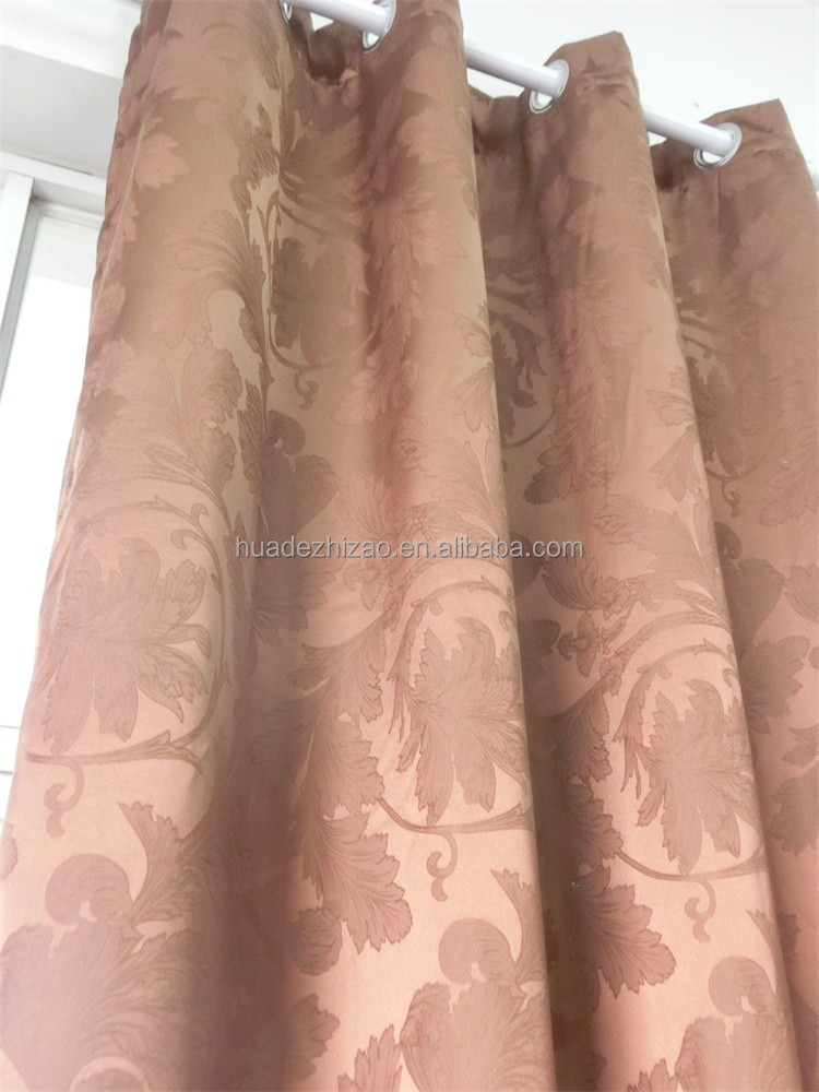 Grommet Panel 100%Polyester Jacquard Window Curtain Stock