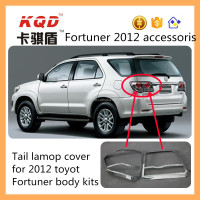 car lights tail lights accessoris chrome back rear lamp cover for toyota fortuner tail light cover autoparts 2012 fortuner kits