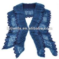 ladies modern new design knitted jacquard pretty crochet mohair shawl