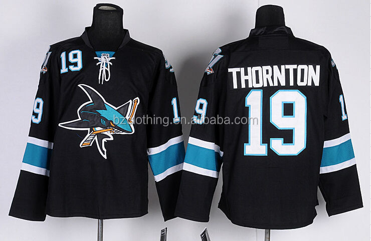 Joe Thornton #19 San Jose Sharks Black Hockey Jersey