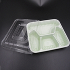 Disposable PET plastic 3 compartments 4 compartments fast food container with lid