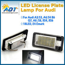 Best Price Error free for Audi Q7 LED License Number Plate Light white for Q7 A3 A4 A6