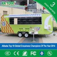 Popular FV58 street vending food cart, mobile concession stands, food and barbecue trailers