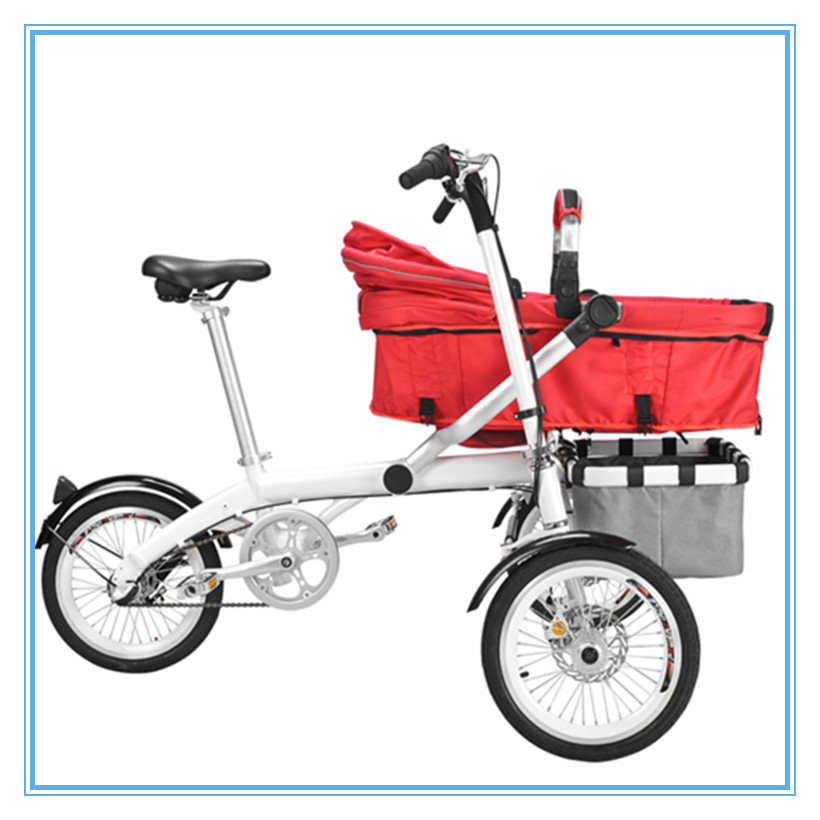 Multifunction Bike Hot Mom 3-In-1 Folding Mother Baby Stroller Carrier Bicycle