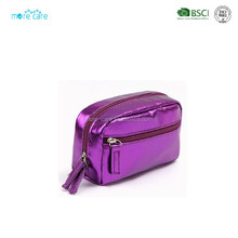 pu leather glitter cosmetic bag